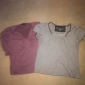 Set of 2 Tops - Scoopneck tops both included
